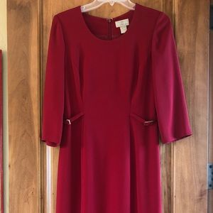 Red dress long sleeve